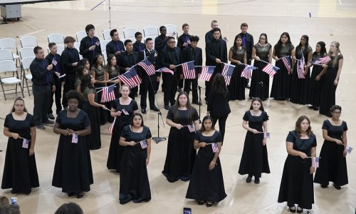 The Lemoore Choral Program is always an important part of the school's Patriotic Concert.