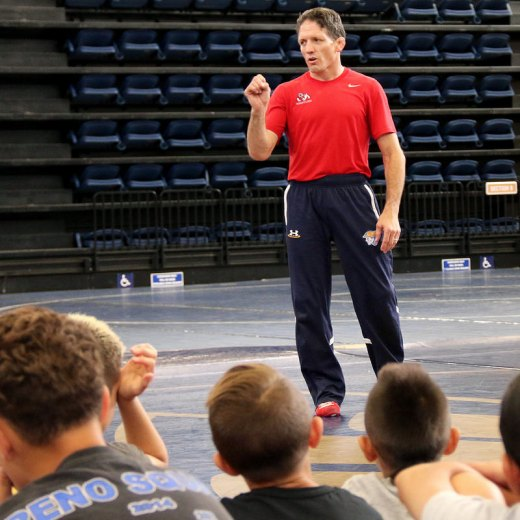 Local wrestling enthusiasts get top-notch coaching at annual