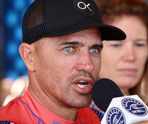 Kelly Slater at Wednesday press conference.