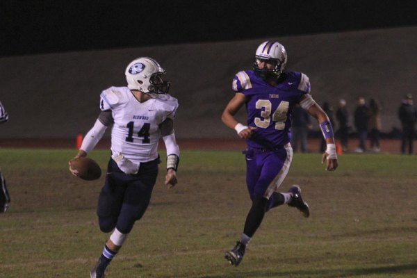 Dawson Cooke chases down the Ranger quarterback.