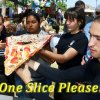 A talented team from the Lemoore Police Department Explorers show off their slice of pizza during the annual pizza-making competition. A team from Leprino West won the annual competition.
