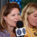 World Surf League's Chief Executive Officer, Sophie Goldschmidt was on hand for this week's tour event.