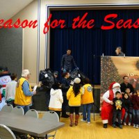 """Lemoore Christian Aid and the Lemoore Police Department joined forces for the annual """"Reason for the Season."""""""
