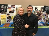 Oscar Lucio and spouse Melissa celebrate his retirement Saturday night, Jan. 12 in the Lemoore Civic Auditorium.