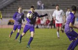 Lemoore's Armando Salinas scored the Tigers first goal in the Wednesday victory over Hanford. The Tigers finished second in the WYL and will likely host a first round playoff game on Feb. 13