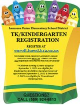 Lemoore Elementary School District says time to register for TK/Kindergarten