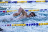 Lemoore High's Hunter Cole won a pair of events for the Tigers in Thursday's swimming meet against Golden West High School