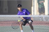 Lemoore's Matt Ramirez won his match against El Diamante on Thursday as did all his fellow Tigers, defeating the Miners 9-0 on Lemoore's home court.