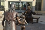 Artwork greets visitors at the Hanford Adventist Health facility adjacent to the hospital's birthing center.