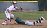 Lemoore's Jimmy Caldera tags out an El Diamante runner in a recent WYL game. The Tigers, baseball and softball, will open Easter tournament play this week, the boys in Clovis and the girls in Tulare.