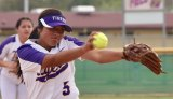 Lemoore's Leslie Segura pitches to Hanford Friday in the third inning. Lemoore fell 5-0 to the visiting Bullpups.