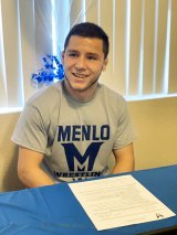Lemoore High School wrestling standout Jesse Gayton signed a letter-of-intent on Monday to wrestle next year for Menlo College.