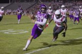 Lemoore quarterback Justin Holaday scored his team's only touchdown, a 9-yard-run, in the third quarter.