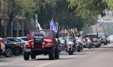 President Trump's supporters held a rally Saturday (Oct. 3) at the Hanford Mall and then, for the next four hours or so, put together a 100-vehicle caravan and cruised through Hanford and Downtown Lemoore.