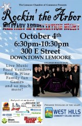 Mark Oct. 4 on calendar for Rockin' the Arbor, 6:30 p.m. to 10:30 p.m. at 300 E. Street