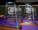 The awards wait to be awarded at Saturday night's annual Lemoore High School Foundation Hall of Fame.