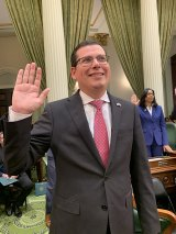 Rudy Salas is sworn in for his fourth term on Dec. 2 at the California State Capitol.