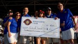 The Kings Lions Club routinely gives back to the community. Here, club members award a check to the City of Lemoore during the 2018 Brewfest.