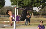 Michael Burke leads the state in the high jump and cleared 6-8 at the Kiwanis Track and Field Meet Friday in Tiger Stadium