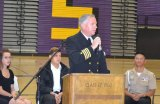 Navy Capt. Gregory Keithley was an honored guest at the annual Lemoore High School Patriotic Concert.