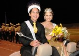 Homecoming Queen and King Roxana Rodriguez and Steven Osuna.