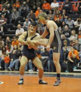 Isaiah Martinez in a recent match for the University of Illinois