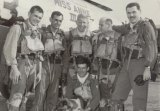 Lemoore High School grad Joe Lahargoue standing, second from left, during service in Korea. He also flew missions in World War II and Vietnam during a long career.