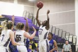 Jazmine Taylor in an earlier game had 10 points Friday night against Redwood.