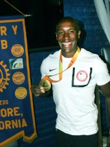 Jerome Avery, pictured here at a Lemoore Rotary Club meeting, will be one of five individuals, athletes a tennis team and three wrestlers inducted into the LHS Hall of Fame.