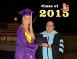 Lemoore High Senior Class President earned the first diploma from former LHS Principal and Trustee Lupe Solis.