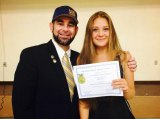 World Link Foreign Exchange Student Polina Tsvetkova was an exchange student at Lemoore High School in 2014-15. She's with LHS FFA Advisor Matt Moreno. World Link is seeking host families for the coming school year.