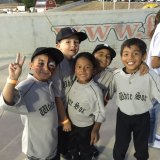 This group of Lemoore Little Leaguers visited the Fresno Grizzlies recently and helped with the Pledge of Allegiance.