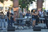 "The band ""August"" will perform again at the summer's first 'Rockin' the Arbor' on June 16."