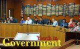 Local high school students sit with the Kings County Board of Supervisors during Youth in Government Day on Nov. 8