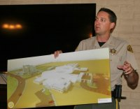 Kings County Sheriff Dave Robinson talks to Rotarians on Tuesday about jail expansion.