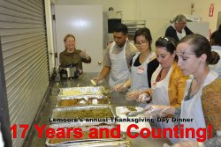 Over 100 volunteers turned out to help with the 17th Annual Thanksgiving Dinner at the Lemoore Senior Center.