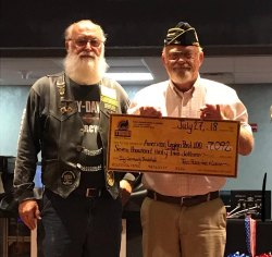 The Tachi Palace Hotel & Casino presented a $7,096 check 