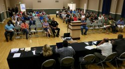 Approximately 200 Lemoore residents turned out for Tuesday night's city council meeting.