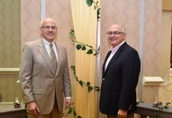 Trustee Jeff Levinson and West Hills District Chancellor Frank Gornick