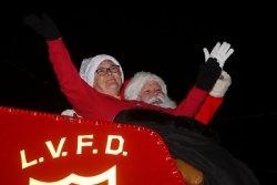 Santa and Mrs. Claus at a recent Lemoore Christmas Parade.