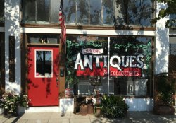 """Lemoore Antiques won """"Best Decorated"""" at Holiday Stroll."""