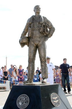 the Navy, family, friends helped to dedicate the Aviators' Memorial on Saturday.