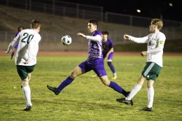 Matt Ramirez is pictured here in the Tigers first playoff win against Templeton. Lemoore won 3-1 to advance in the Division 3 playoffs.