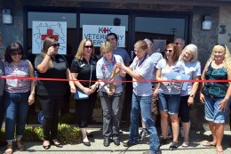 The Lemoore Chamber of Commerce, local dignitaries, and friends welcomed new veterinarians Kayla McCrone and Kaitlen Lawton-Betchel to Lemoore as they opened K+K Veterinary Services at 377 Hill Street Saturday, July 21.