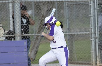 Lemoore's Selina Perez (file photo)  scored three times in a 14-1 win at the Bakersfield Driller Softball Tournament that began on March 5.
