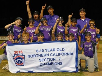 The Northern California Section 7, 8-10-Year Old Champions