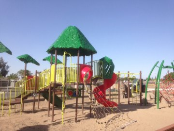 The new playground at Kings Lions Park will be ready by next week.