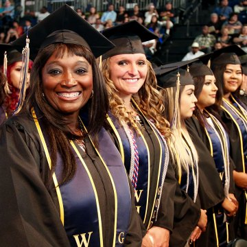 Students at West Hills Commencement on May 19.