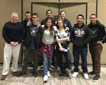 Marksmanship Team (left to right):LCDR John Wolstenholme, Alex Chavez, Xristina Quirozhernandez, Aurora Johnson, Angelo Sangerman, Brandon Pridgen, Thomas Snell, Aaron Dorfmeier, Emily Williams.