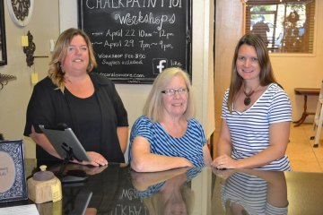 Brenda Martin, Lynda Lahodny and Kari Deburger run Lemoore's newest business.